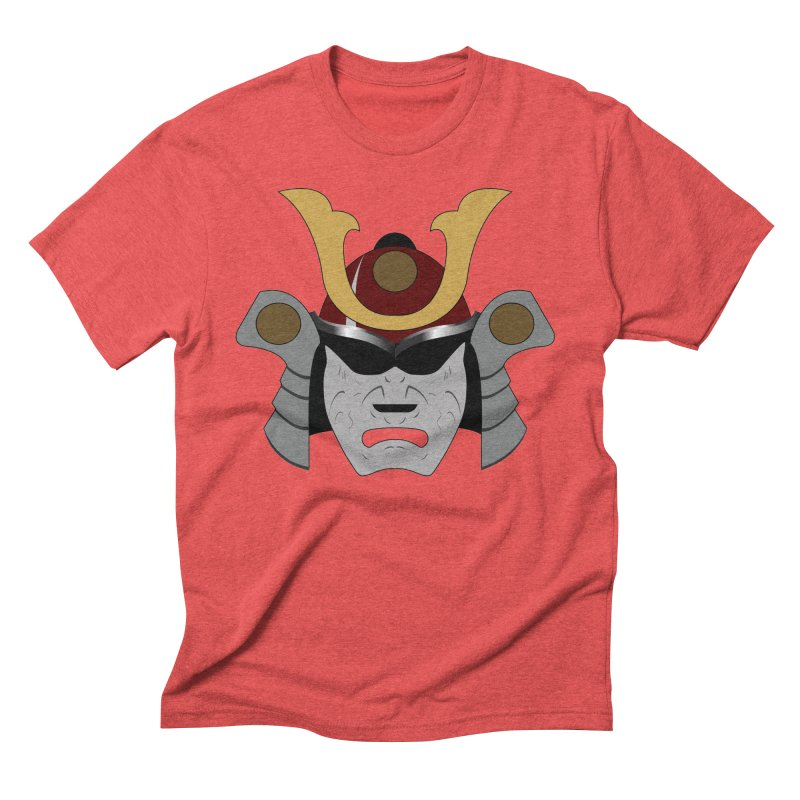 Samurai Helmet (3 of 6 Warrior Collection) Men's Triblend T-shirt by openyourclosedmind Design's Artist Shop