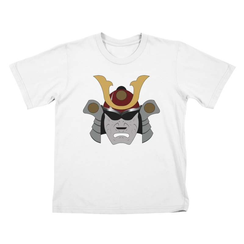 Samurai Helmet (3 of 6 Warrior Collection) Kids T-shirt by openyourclosedmind Design's Artist Shop
