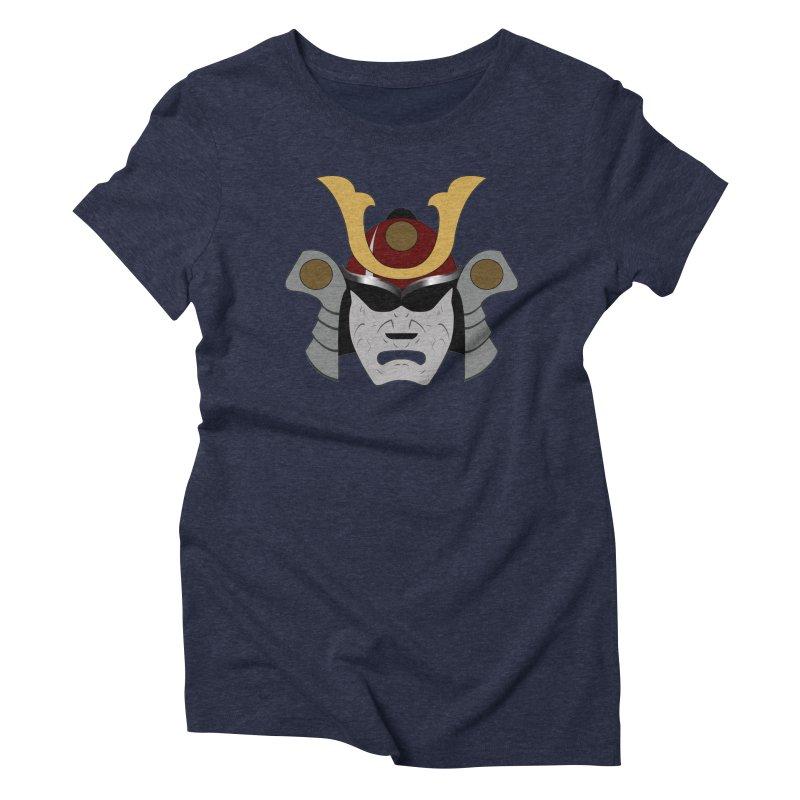 Samurai Helmet (3 of 6 Warrior Collection) Women's Triblend T-shirt by openyourclosedmind Design's Artist Shop