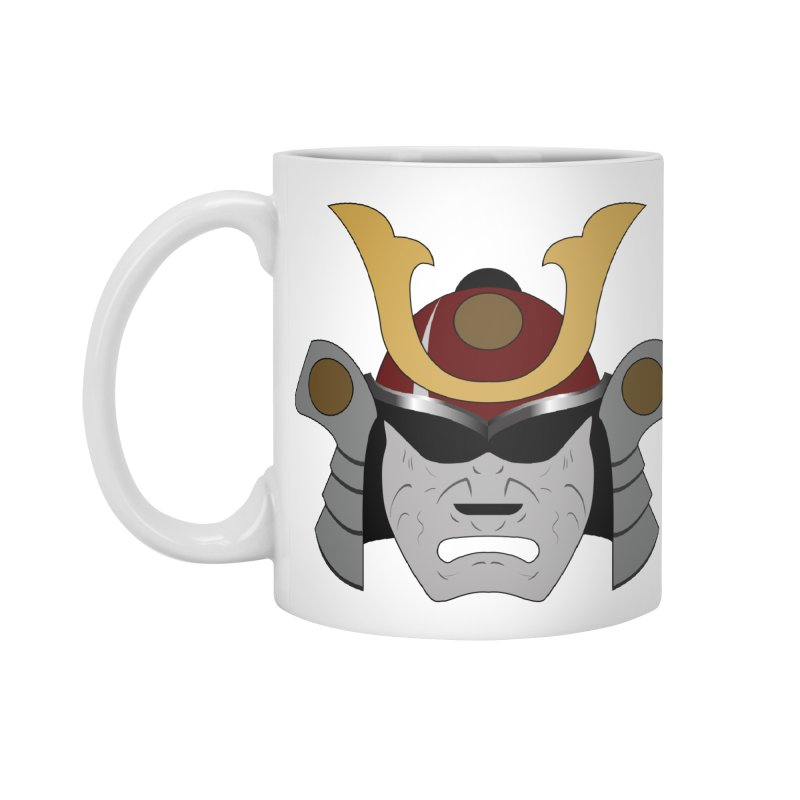 Samurai Helmet (3 of 6 Warrior Collection) Accessories Mug by openyourclosedmind Design's Artist Shop
