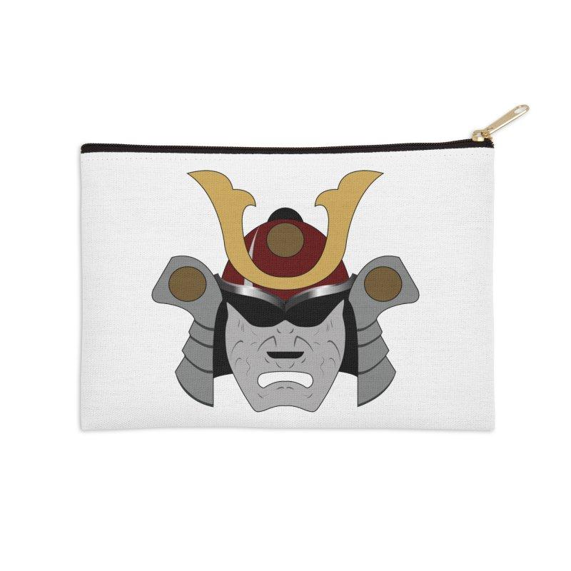 Samurai Helmet (3 of 6 Warrior Collection) Accessories Zip Pouch by openyourclosedmind Design's Artist Shop
