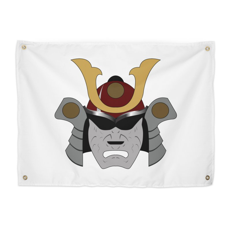 Samurai Helmet (3 of 6 Warrior Collection) Home Tapestry by openyourclosedmind Design's Artist Shop