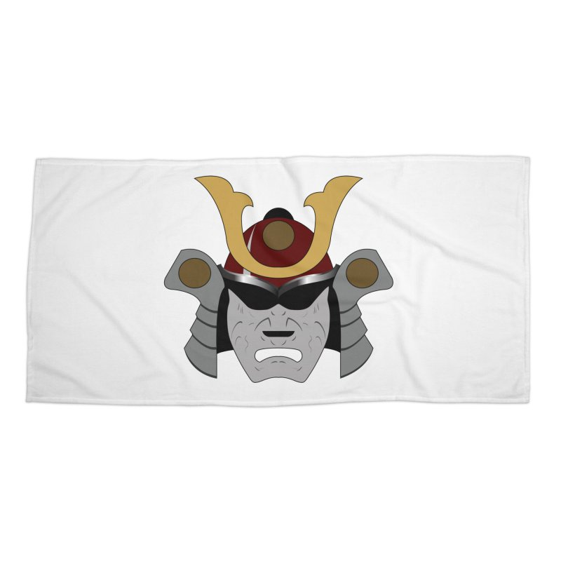 Samurai Helmet (3 of 6 Warrior Collection) Accessories Beach Towel by openyourclosedmind Design's Artist Shop