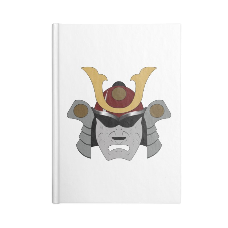 Samurai Helmet (3 of 6 Warrior Collection) Accessories Notebook by openyourclosedmind Design's Artist Shop