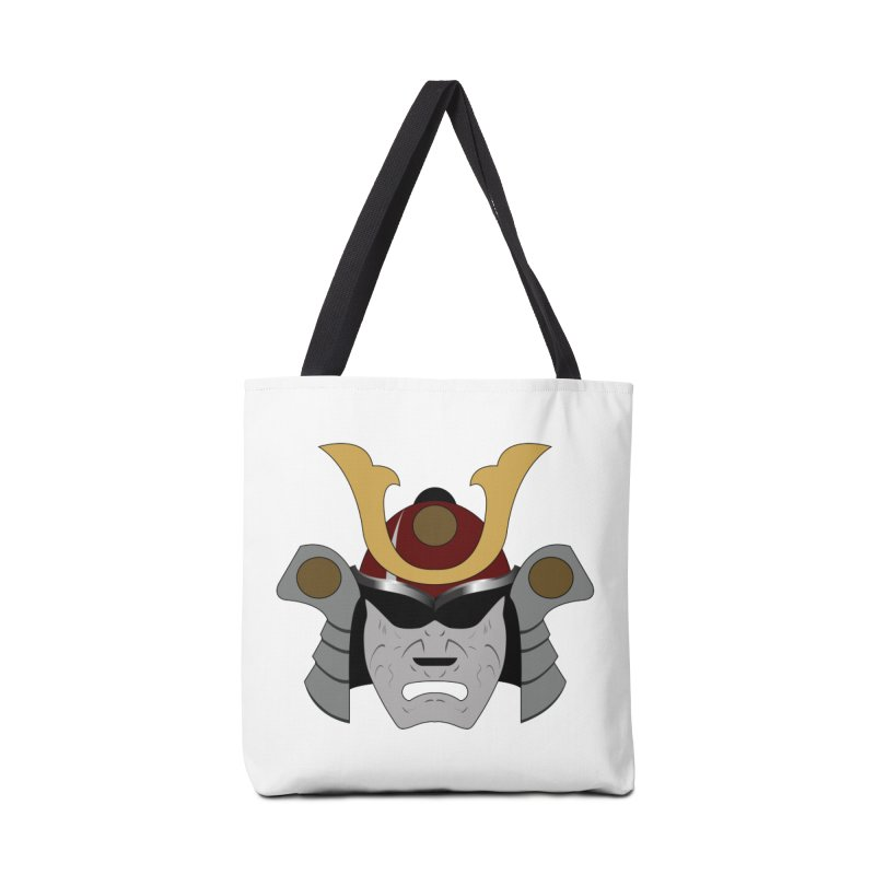 Samurai Helmet (3 of 6 Warrior Collection) Accessories Bag by openyourclosedmind Design's Artist Shop