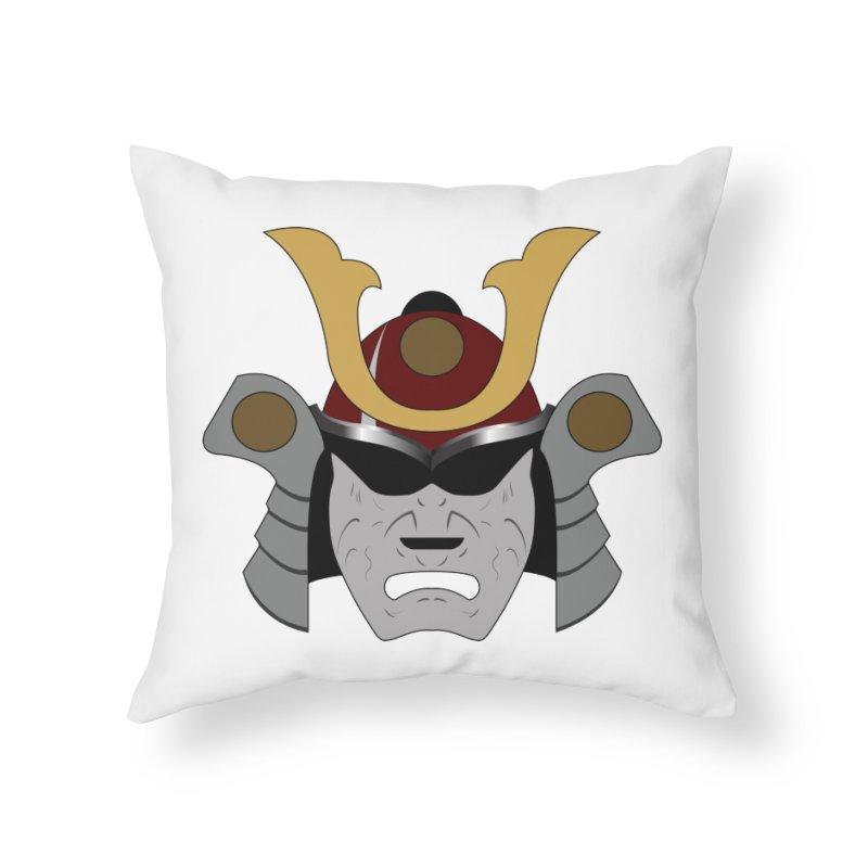 Samurai Helmet (3 of 6 Warrior Collection) Home Throw Pillow by openyourclosedmind Design's Artist Shop
