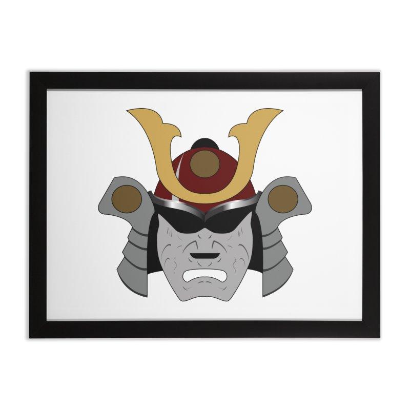 Samurai Helmet (3 of 6 Warrior Collection) Home Framed Fine Art Print by openyourclosedmind Design's Artist Shop