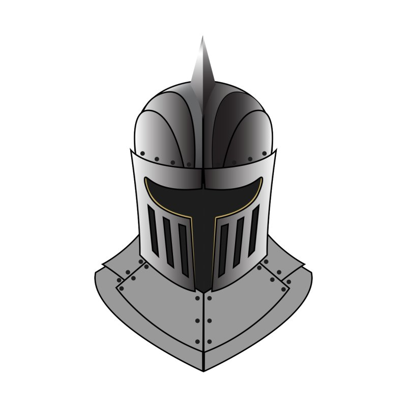 Knight Helmet (4 of 6 Warrior Collection) None  by openyourclosedmind Design's Artist Shop