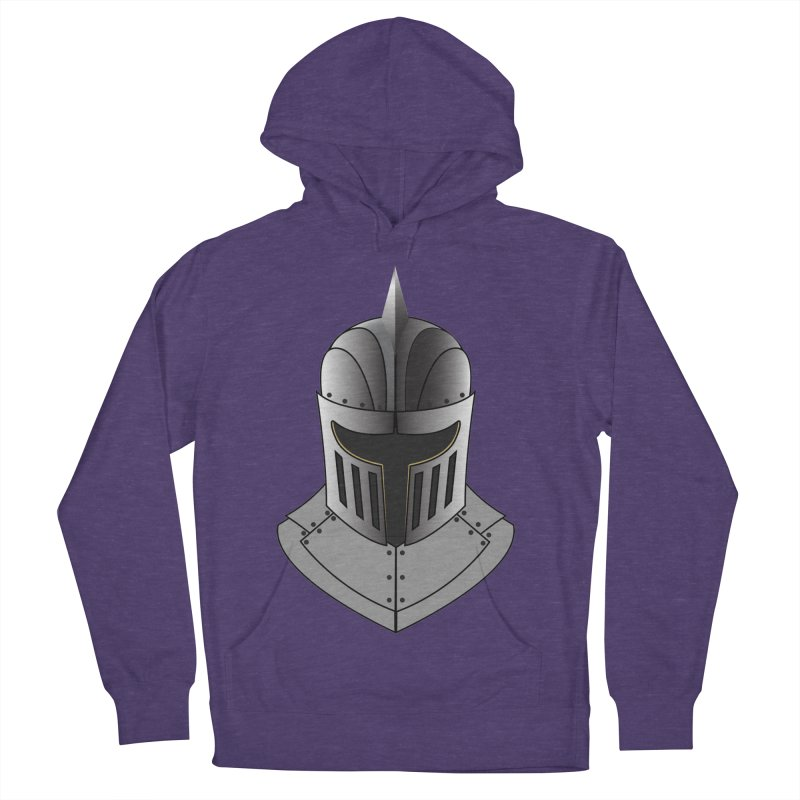 Knight Helmet (4 of 6 Warrior Collection) Men's Pullover Hoody by openyourclosedmind Design's Artist Shop
