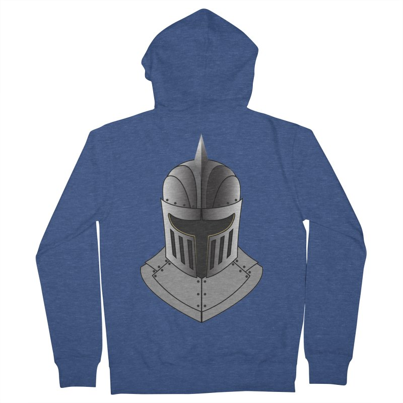Knight Helmet (4 of 6 Warrior Collection) Men's Zip-Up Hoody by openyourclosedmind Design's Artist Shop