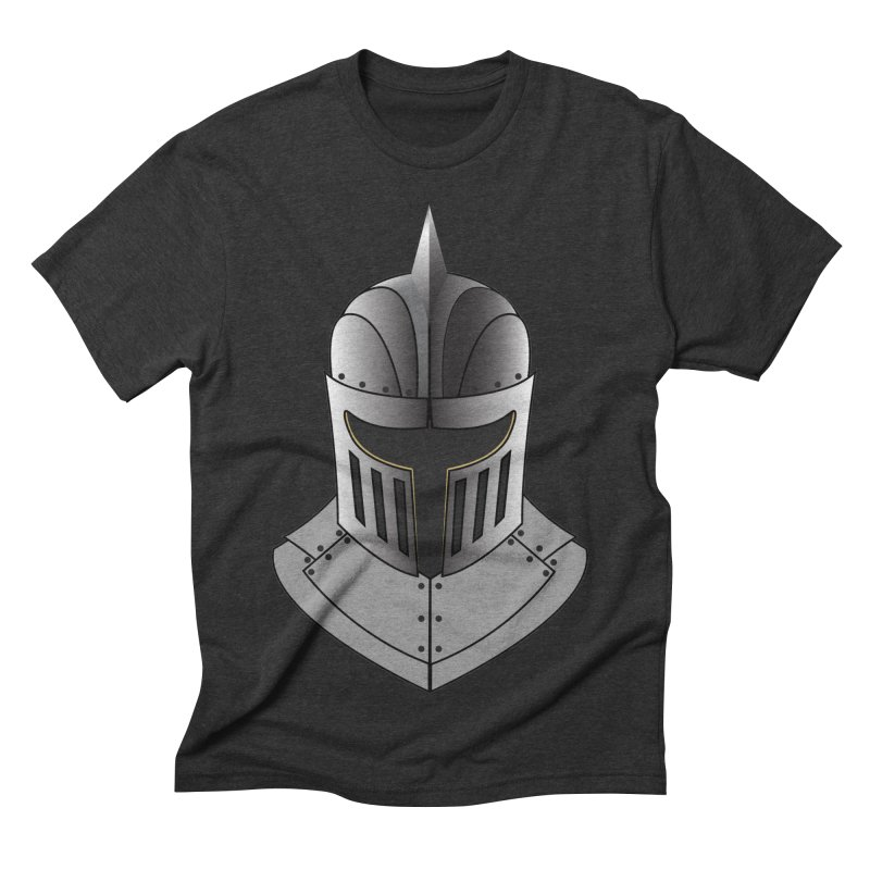 Knight Helmet (4 of 6 Warrior Collection) Men's Triblend T-shirt by openyourclosedmind Design's Artist Shop