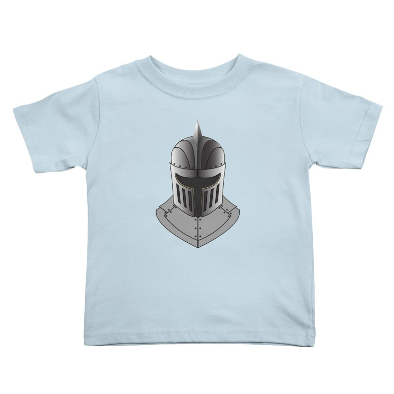 Knight Helmet (4 of 6 Warrior Collection) Kids Toddler T-Shirt by openyourclosedmind Design's Artist Shop