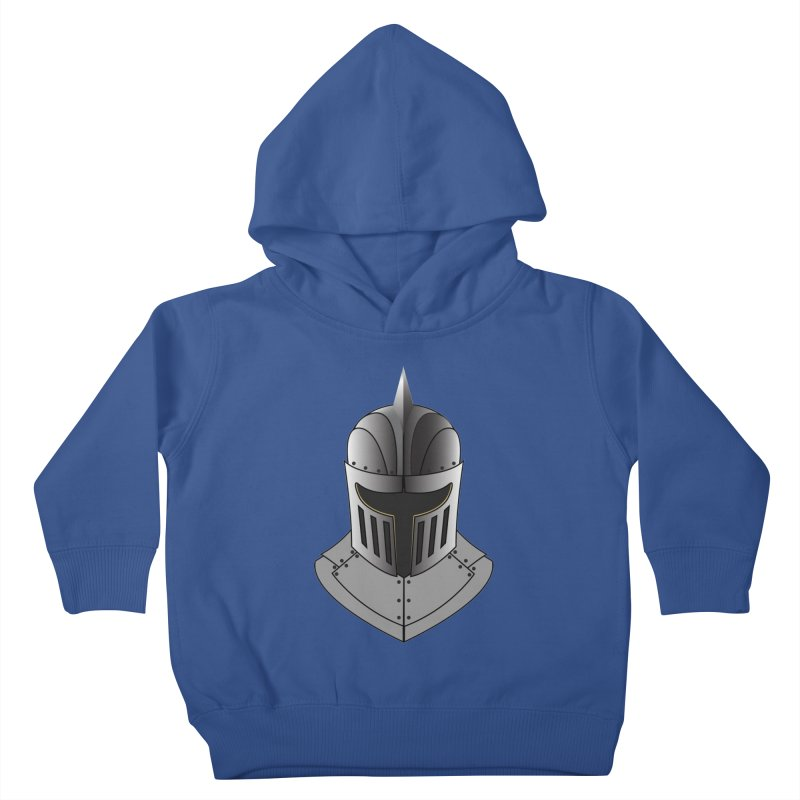 Knight Helmet (4 of 6 Warrior Collection) Kids Toddler Pullover Hoody by openyourclosedmind Design's Artist Shop