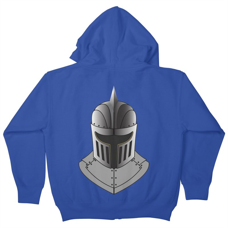 Knight Helmet (4 of 6 Warrior Collection) Kids Zip-Up Hoody by openyourclosedmind Design's Artist Shop