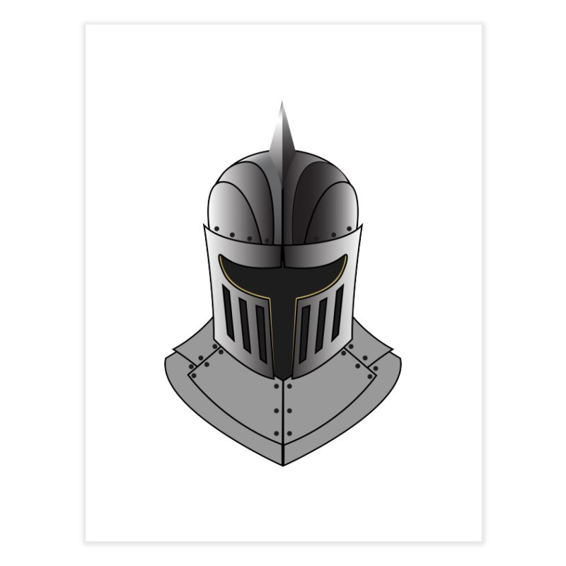 Knight Helmet (4 of 6 Warrior Collection) Home Fine Art Print by openyourclosedmind Design's Artist Shop