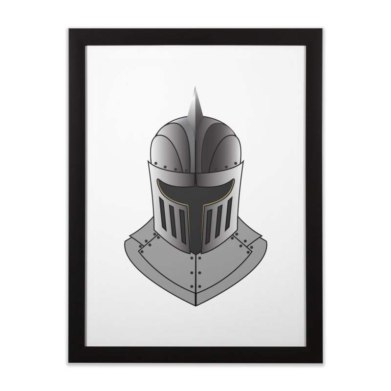Knight Helmet (4 of 6 Warrior Collection) Home Framed Fine Art Print by openyourclosedmind Design's Artist Shop