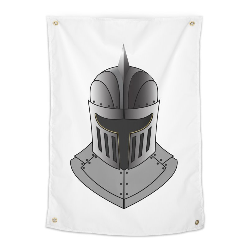 Knight Helmet (4 of 6 Warrior Collection) Home Tapestry by openyourclosedmind Design's Artist Shop