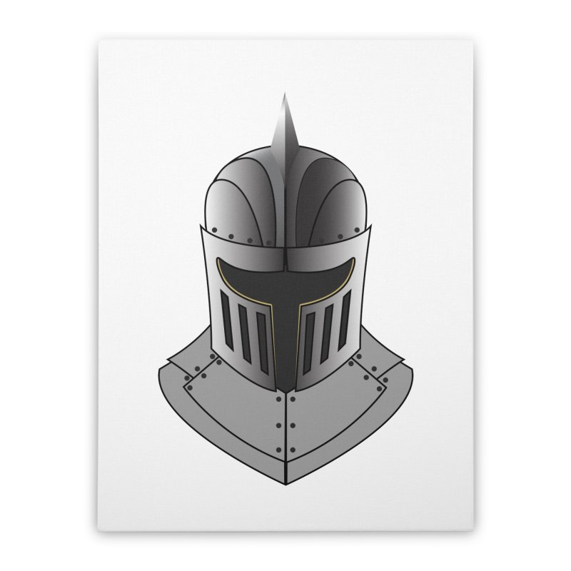 Knight Helmet (4 of 6 Warrior Collection) Home Stretched Canvas by openyourclosedmind Design's Artist Shop