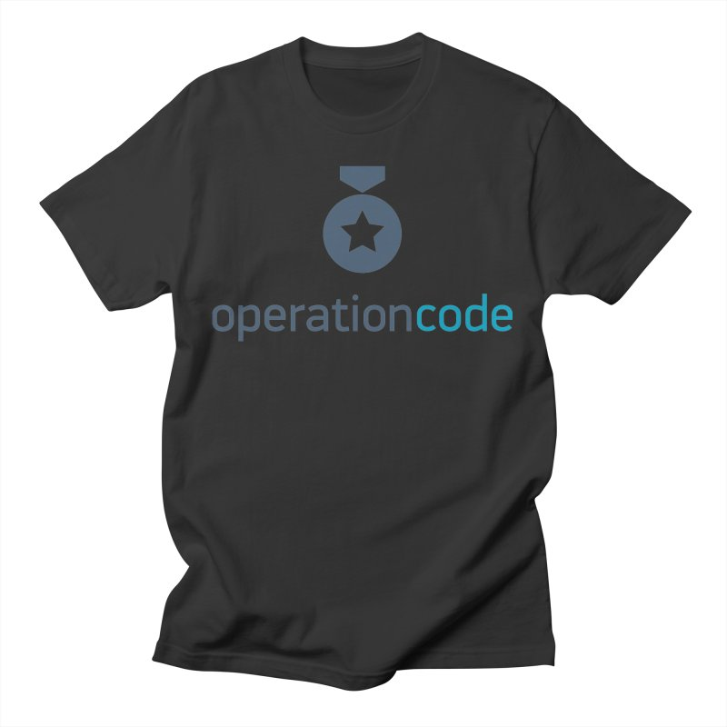 Logo Stacked (Blue) Men's T-Shirt by Operation Code Gear