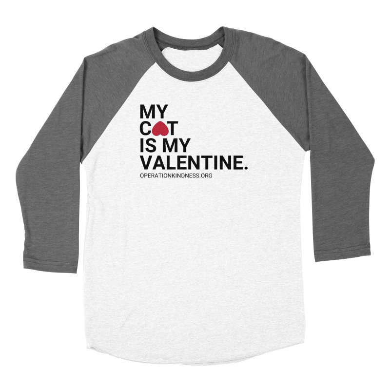 Valentine's Day - Cat Women's Baseball Triblend Longsleeve T-Shirt by operationkindness's shop