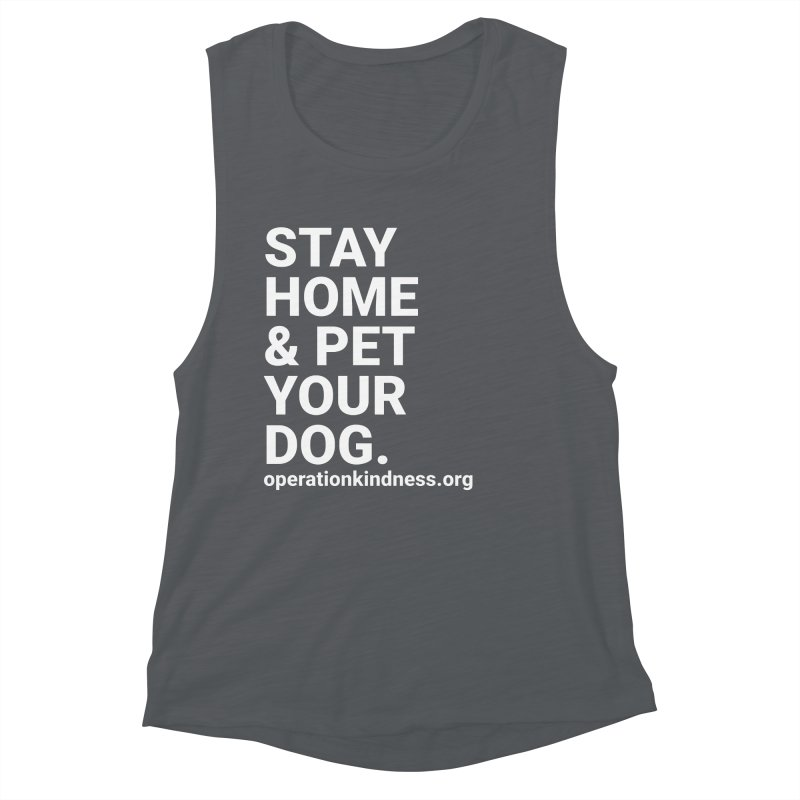 Stay Home & Pet Your Dog Women's Tank by operationkindness's shop
