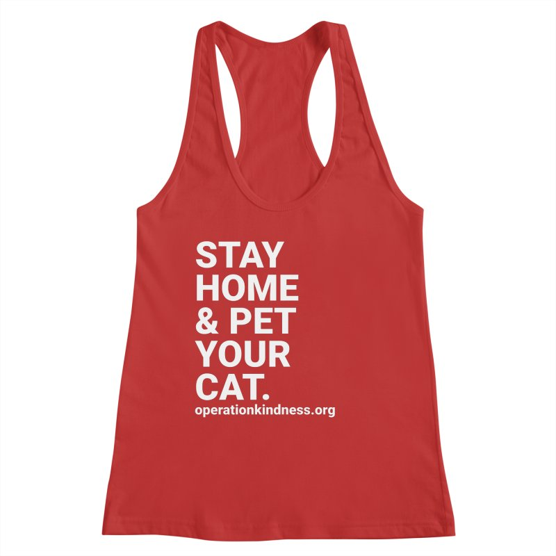 Stay Home & Pet Your Cat Women's Tank by operationkindness's shop