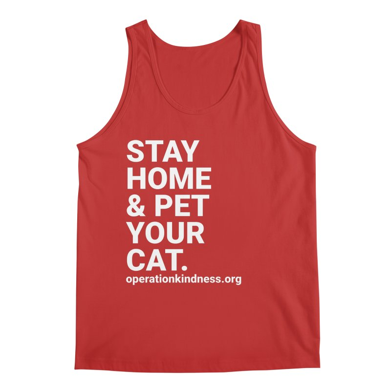Stay Home & Pet Your Cat Men's Tank by operationkindness's shop