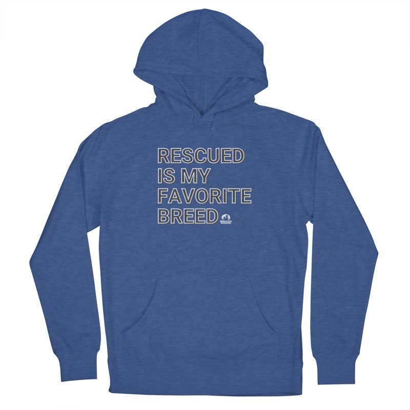Rescued is My Favorite Breed Men's Pullover Hoody by operationkindness's shop