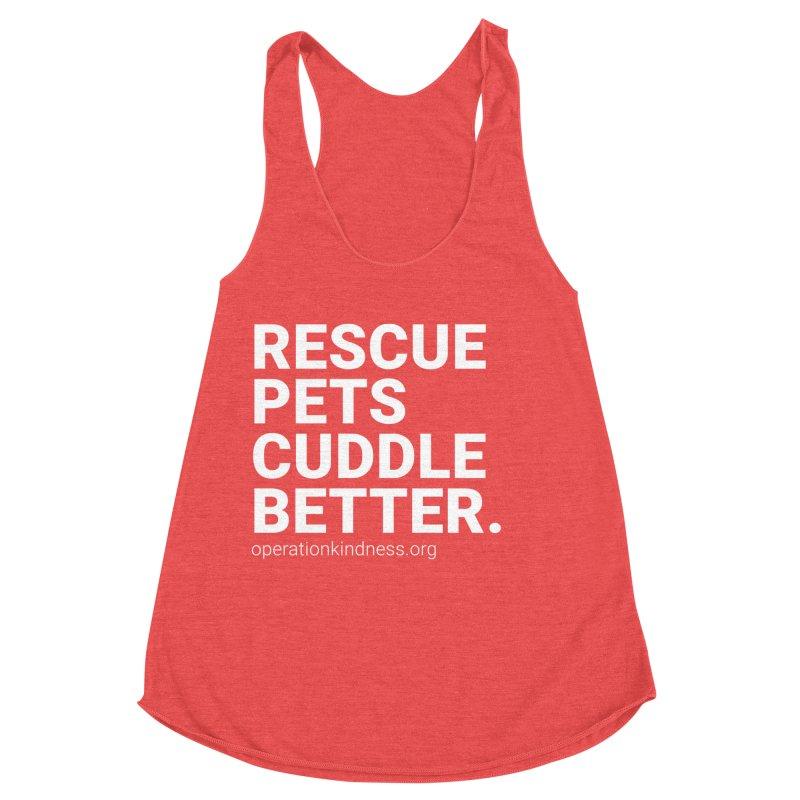 Rescue Pets Cuddle Better Women's Racerback Triblend Tank by operationkindness's shop