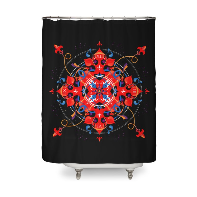 Ganesha Mandala Home Shower Curtain by