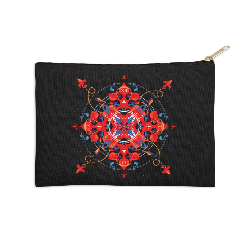 Ganesha Mandala Accessories Zip Pouch by