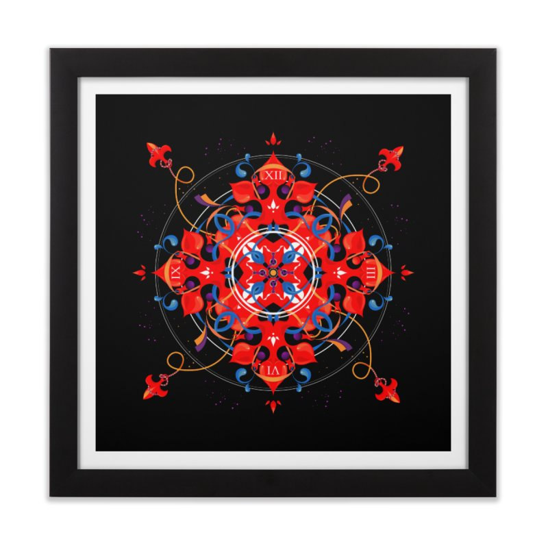 Ganesha Mandala Home Framed Fine Art Print by