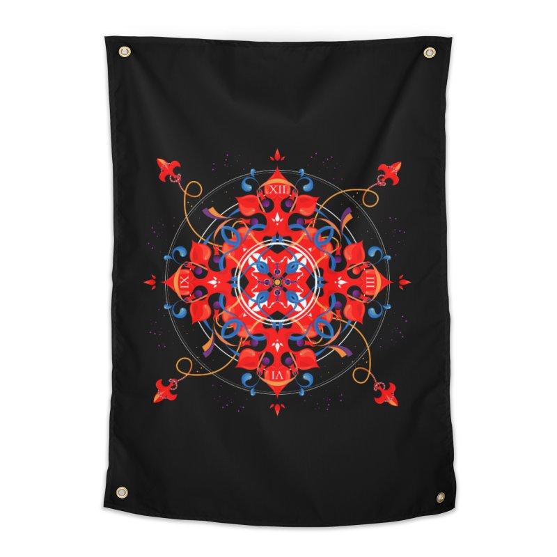 Ganesha Mandala Home Tapestry by