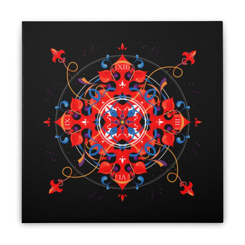 Ganesha Mandala Home Stretched Canvas by