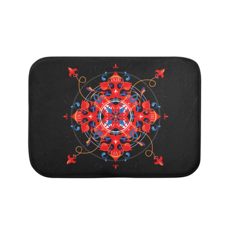 Ganesha Mandala Home Bath Mat by