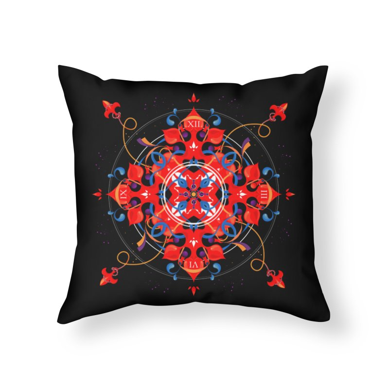 Ganesha Mandala Home Throw Pillow by