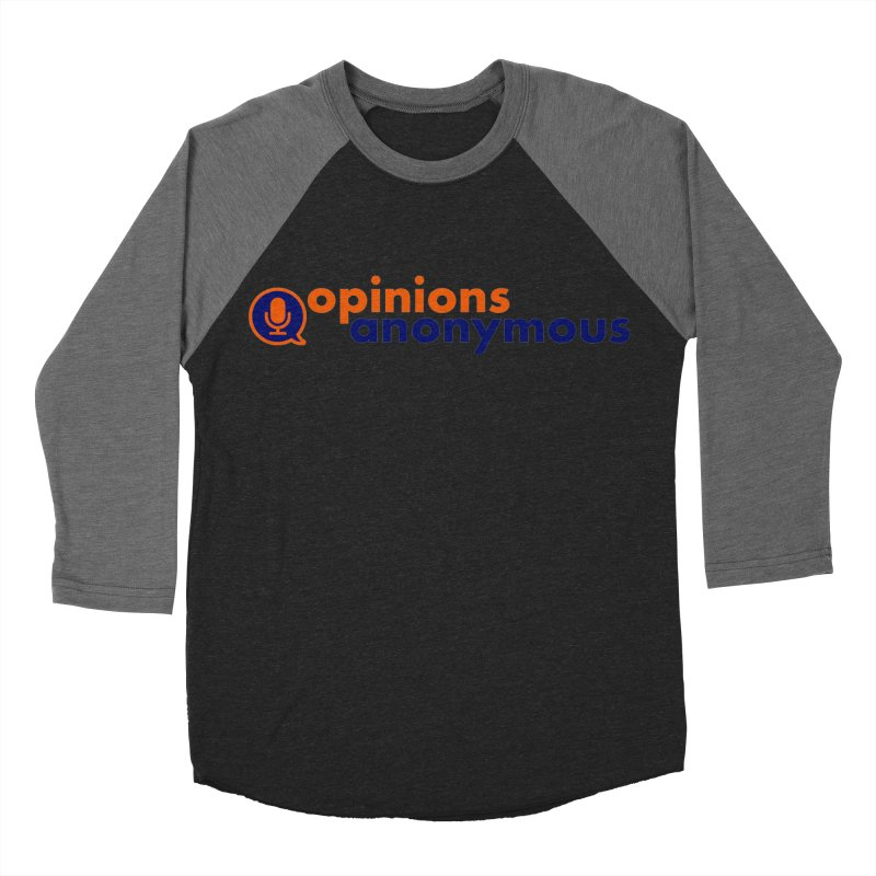 Opinions Anonymous Men's Baseball Triblend Longsleeve T-Shirt by Opinions Anonymous