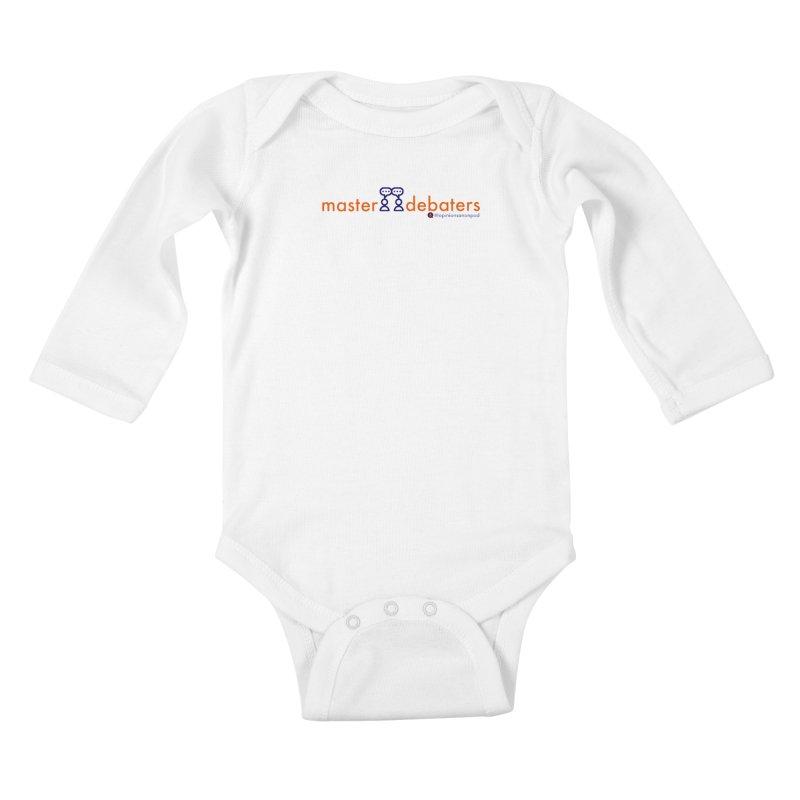 Master Debaters Kids Baby Longsleeve Bodysuit by Opinions Anonymous