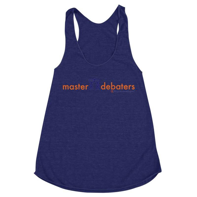 Master Debaters Women's Racerback Triblend Tank by Opinions Anonymous