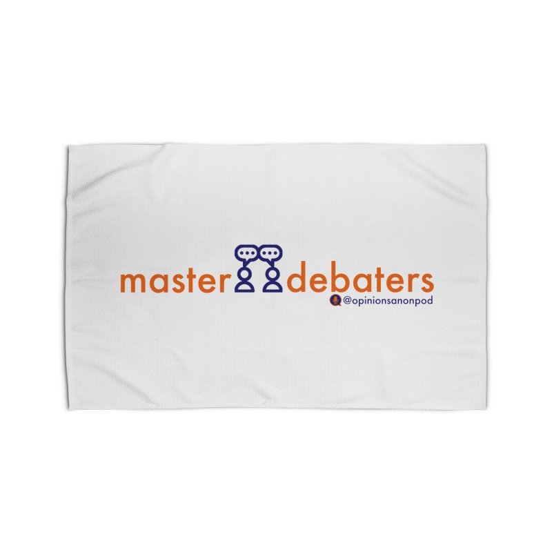 Master Debaters Home Rug by Opinions Anonymous