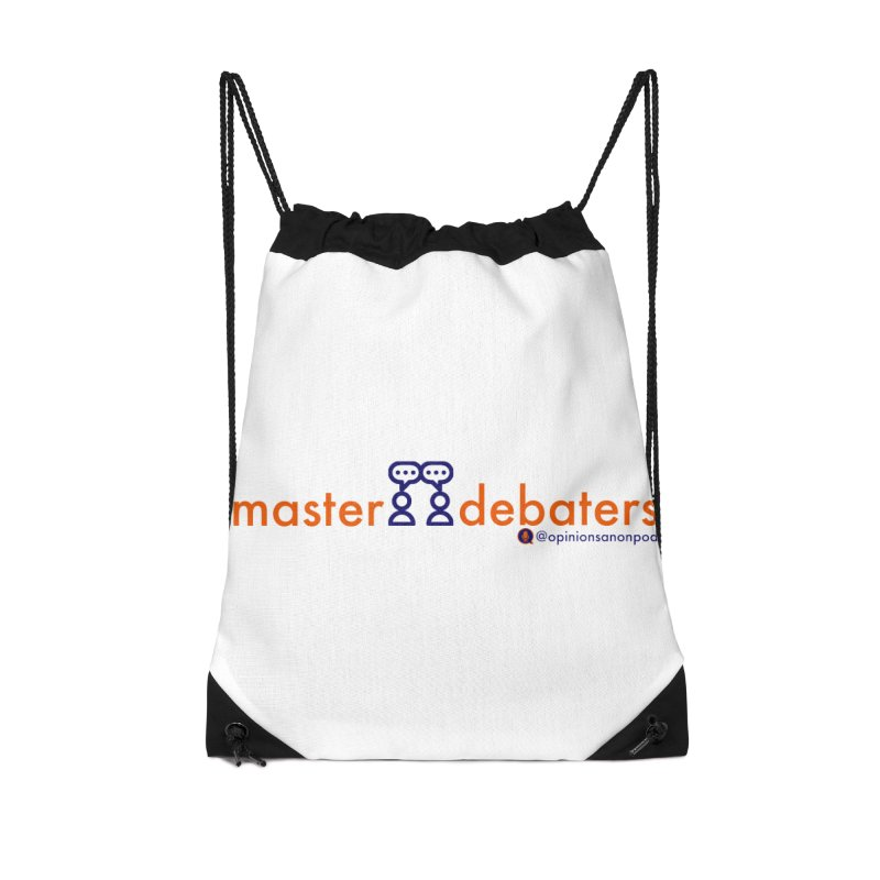 Master Debaters Accessories Drawstring Bag Bag by Opinions Anonymous