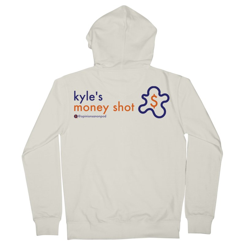 Kyle's Money Shot Men's French Terry Zip-Up Hoody by Opinions Anonymous