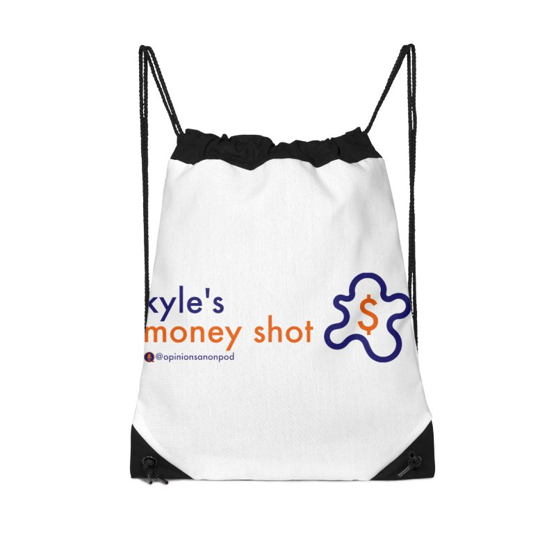 Kyle's Money Shot Accessories Drawstring Bag Bag by Opinions Anonymous