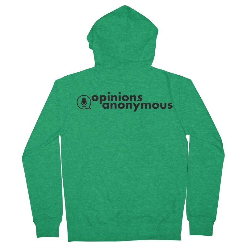 Opinions Anonymous (Black Logo) Women's Zip-Up Hoody by Opinions Anonymous