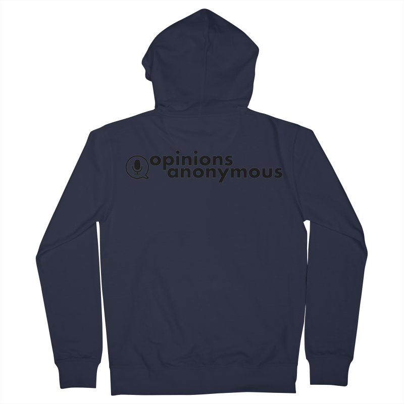 Opinions Anonymous (Black Logo) Men's French Terry Zip-Up Hoody by Opinions Anonymous