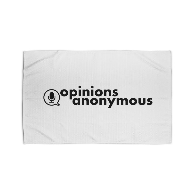 Opinions Anonymous (Black Logo) Home Rug by Opinions Anonymous