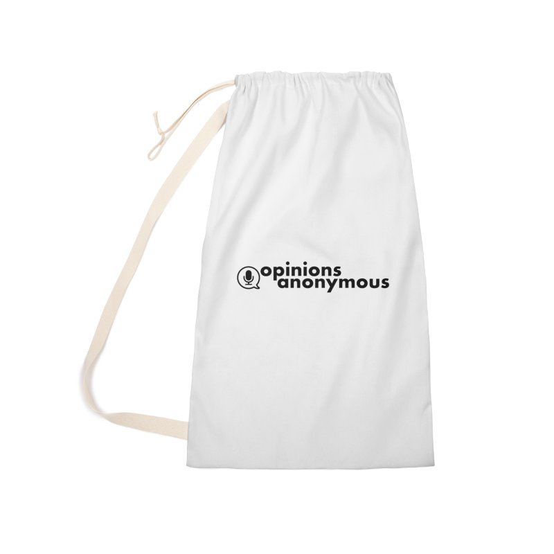 Opinions Anonymous (Black Logo) Accessories Laundry Bag Bag by Opinions Anonymous