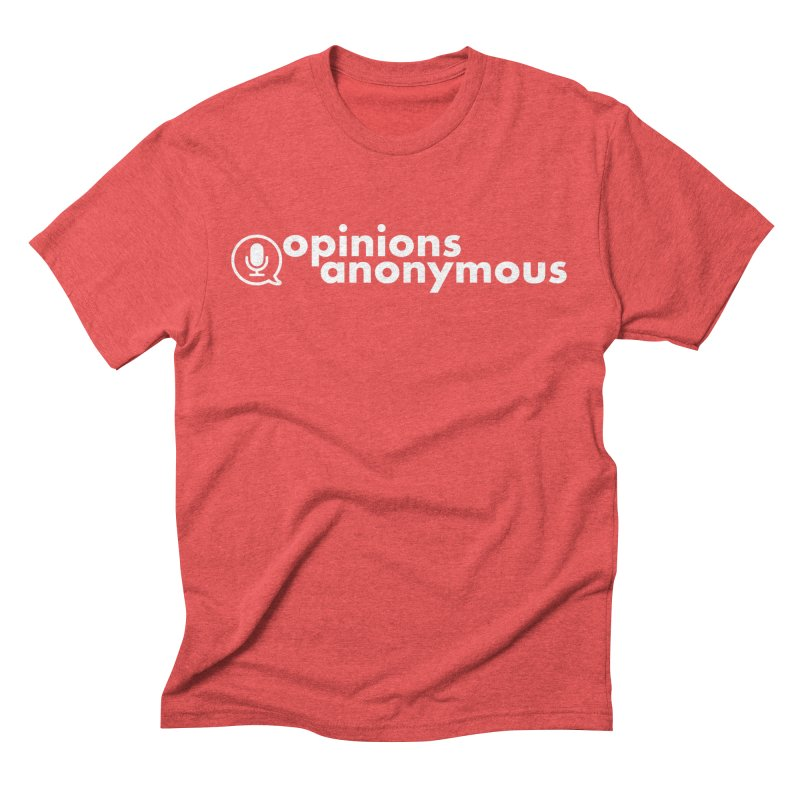 Opinions Anonymous (White Logo) Men's T-Shirt by Opinions Anonymous