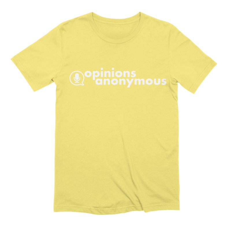 Opinions Anonymous (White Logo) Men's Extra Soft T-Shirt by Opinions Anonymous