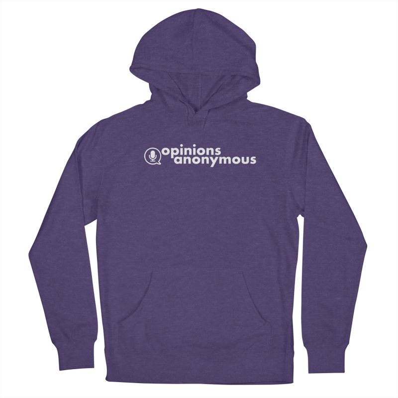 Opinions Anonymous (White Logo) Men's Pullover Hoody by Opinions Anonymous